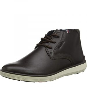 TOMMY HILFIGER LIGHTWEIGHT CITY LEATHER BOOT FM0FM02553 COFFEE BEAN