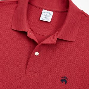 BROOKS BROTHER PERFORMANCE POLO SUPIMA COTTON STRETCH SLIM FIT 4040 00024399-064-RED