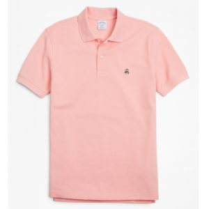 BROOKS BROTHER PERFORMANCE POLO SUPIMA COTTON STRETCH SLIM FIT 4040 00132491-051-SOFT PINK