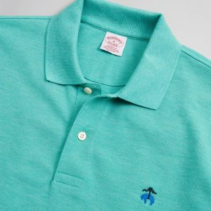 BROOKS BROTHER PERFORMANCE POLO SUPIMA COTTON STRETCH SLIM FIT 4040 00174335-030-GREEN