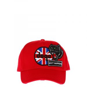 DSQUARED2 PATCHED BASEBALL CAP S17BC1005 05C 4065-RED