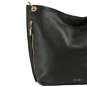 TED BAKER CHHLOEE HEART STUD DETAIL HOBO BAG 243401-BLACK