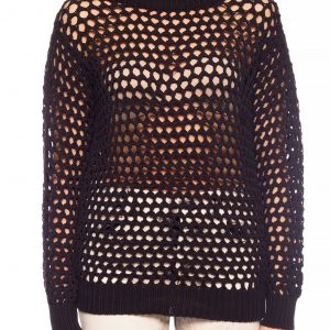 DSQUARED2 WOVEN SWEATER S75HA0940-S16988-900-BLACK