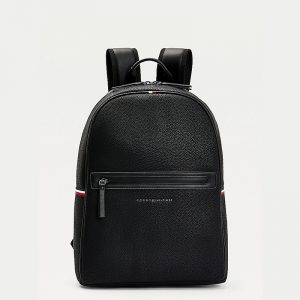 TOMMY HILFIGER ESSENTIAL PU BACKPACK AM0AM07238-BDS-BLACK