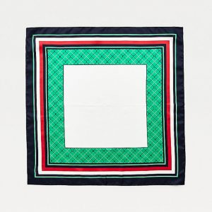 TOMMY HILFIGER ARGYLE SILK AW0AW09213-0GY-PRIMARY GREEN MIX