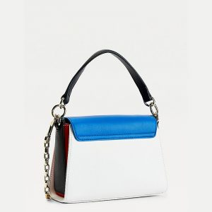 TOMMY HILFIGER TH LOCK SMALL SATCHEL CB AW0AW09655-DW5-DESERT SKY