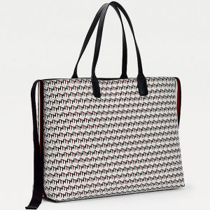 TOMMY HILFIGER ICONIC TOMMY TOTE MONOGRAM AW0AW09660-0GY-CORPORATE MONO