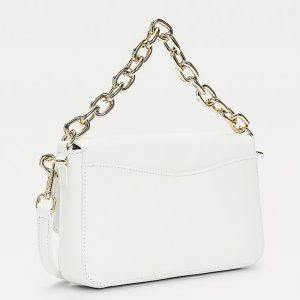 TOMMY HILFIGER TH CLUB FLAP CROSSOVER AW0AW09678-YAF-BRIGHT WHITE
