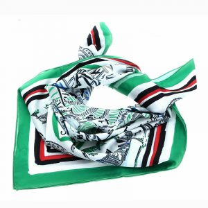 TOMMY HILFIGER FLORIDA PRINT SATIN SCARF AW0AW09798-0H7-GREEN MIX