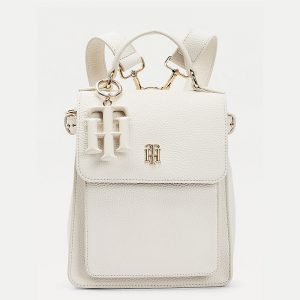 TOMMY HILFIGER TH SOFT BACKPACK AW0AW09837-AF2-WHITE DOVE