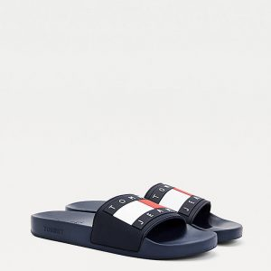 TOMMY HILFIGER TOMMY JEANS FLAG POOL SLIDE EM0EM00689-C87-TWILIGHT NAVY