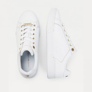 TOMMY HILFIGER TH MONOGRAM ELEVATED SNEAKERS FW0FW05549-YBR-WHITE