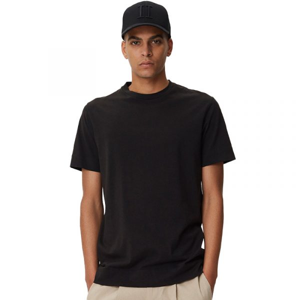 LES DEUX AIDEN PIMA COTTON T-SHIRT LDM101071-100100-BLACK