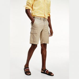 TOMMY HILFIGER JOHN CARGO SHORT LIGHT TWILL MW0MW13520-AEG-BEIGE