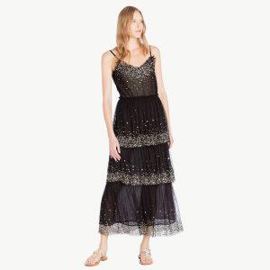 TWINSET BLACK DRESS TS82EG-00006