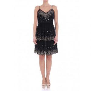 TWINSET BLACK DRESS TS82EJ-00006