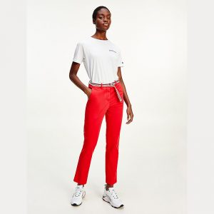 TOMMY HILFIGER CO TENCEL CHINO SLIM PANT WW0WW30257-XLG-PRIMARY RED