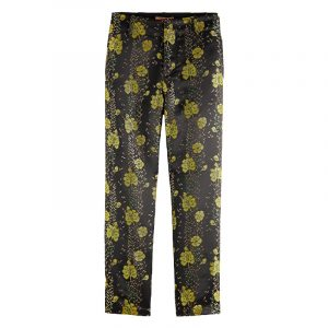 SCOTCH & SODA TAILORED PANTS IN FLORAL JACQUARD 159071-0217-COMBO A