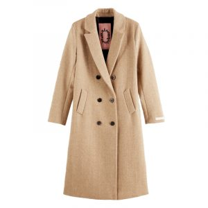 SCOTCH & SODA TAILORED DOUBLE BREASTED COAT 159138-0610-SAND MELANGE