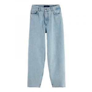 SCOTCH & SODA HIGH RISE BALLOON JEANS 160456-4038-BLUE/CRYSTALIZED IN TIME