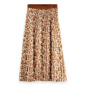 SCOTCH & SODA PLISSE SKIRT WITH ALLOVER PRINT 162235-0219-MULTICOLOR/COMBO C