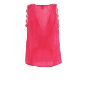 PINKO JAQUARD FLOREAL TOP 1G15W9 8405 P62-FUCHSIA/ROUGE RED