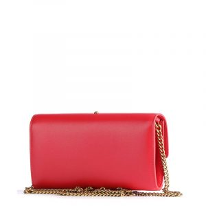 PINKO LEATHER WALLET WITH SHOULDER STRAP 1P221Y Y6XT R43-PURE RED