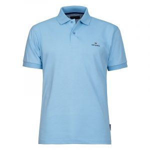 NAVY & GREEN SOLID POLOSHIRT PIQUE CUSTOM FIT 24GE.300.4-BABY BLUE