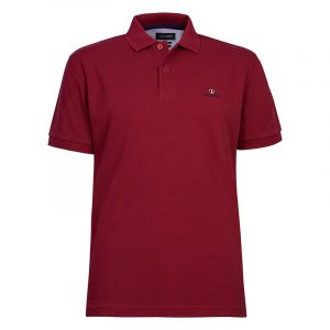 NAVY & GREEN SOLID POLOSHIRT PIQUE CUSTOM FIT 24GE.300.4-BERRY