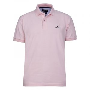 NAVY & GREEN SOLID POLOSHIRT PIQUE CUSTOM FIT 24GE.300.4-DUSTY PINK
