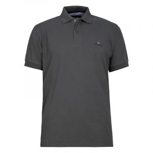 NAVY & GREEN SOLID POLOSHIRT PIQUE CUSTOM FIT 24GE.300.4-FOREST GREEN