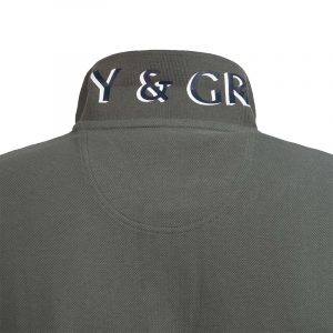 NAVY & GREEN POLOSHIRT YOUNG LINE 24GE.304/YL.4-FOREST GREEN