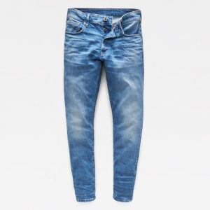 G-STAR RAW 3301 STRAIGHT TAPERED JEANS 51003-B631-A795-WORN IN AZURE