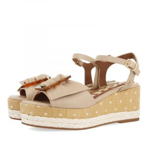 GIOSEPPO LARAMIE PLATFORM SANDALS 62856-OFF-WHITE