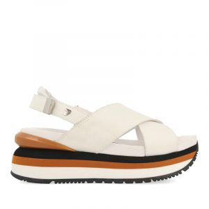 GIOSEPPO METAIRIE PLATFORM SANDALS 62958-WHITE