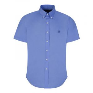 POLO RALPH LAUREN CUSTOM FIT NATURAL STRETCH POPLIN SHIRT 710795273008-PERIWINKLE BLUE