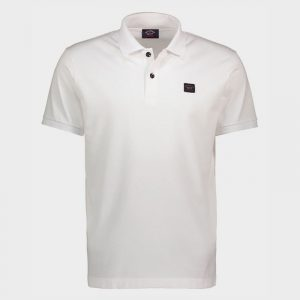 PAUL & SHARK ORGANIC COTTON PIQUÉ POLO WITH HERITAGE LOGO C0P1070-010-WHITE