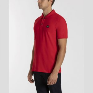 PAUL & SHARK ORGANIC COTTON PIQUÉ POLO WITH HERITAGE LOGO C0P1070-577-RED