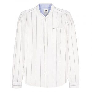 GARCIA JEANS SHIRT WITH STRIPES C11081-53-OFF WHITE
