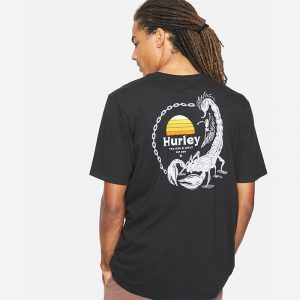 HURLEY EVERDAY WASHED DROP IN T-SHIRT CZ6031-H010-BLACK