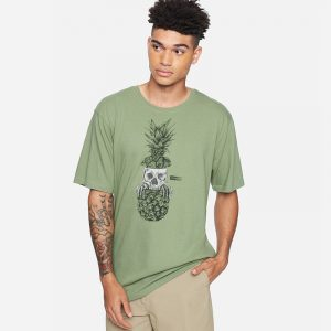 HURLEY EVERYDAY WASHED PEEKS T-SHIRT CZ6042-H330-SPIRAL SAGE