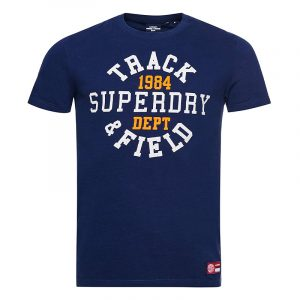 SUPERDRY TRACK AND FIELD GRAPHIC T-SHIRT M1010846A-66Z-REGAL NAVY