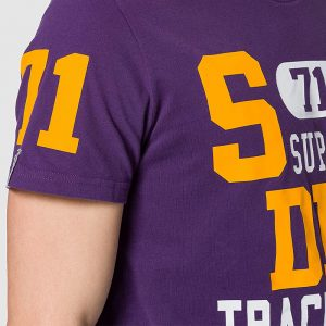 SUPERDRY TRACK AND FIELD GRAPHIC T-SHIRT M1010846A-NOA-LEX PURPLE