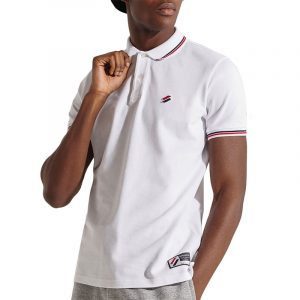 SUPERDRY SPORTSTYLE TWIN TIPPED POLO M1110208A-01C-OPTIC