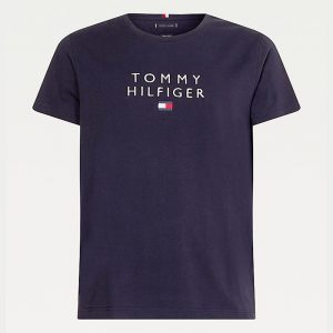 TOMMY HILFIGER STACKED TOMMY FLAG T-SHIRT MW0MW17663-DW5-DESERT SKY