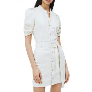 PEPE JEANS DORY SHIRT-FIT DRESS PL952812-803-OFF WHITE