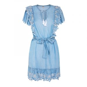 PEPE JEANS TAMY BOHO DRESS PL952870-000-BLUE DENIM