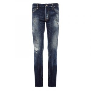 DSQUARED2 BROS PATCH DISTRESSED JEANS S74LB0871 S30342 470-BLUE