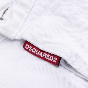 DSQUARED2 CROPPED JEANS S75LB0467 S39781 100-WHITE