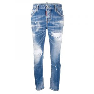 DSQUARED2 DISTRESSED SKINNY JEANS S80LA0021 S30342 470-BLUE